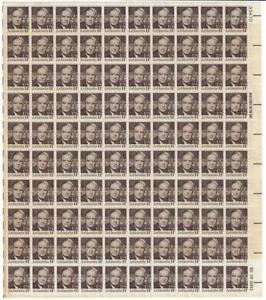 US SCOTT1397 PANE OF 100 LAGUARDIA 14 CENT FACE MNH