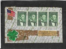 1959 US Hand-made Multi-franked Patriotic Cover w/Shamrock, Machine Cancel