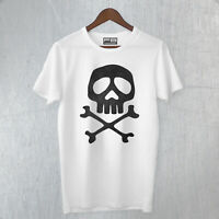 T-Shirt Teschio Skull CAPITAN HARLOCK Dark Pirati Dei Caraibi Cartoon Anni 80's