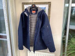Merrell Opti-warm Mens Winter Coat Blue / Grey Lining XXL Very Good Condition