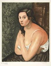 Jacques Villon Reproduction: Bust of a Woman (Buste de Femme) - Fine Art Print