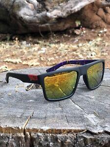 NEW Fox Racing Sunglasses Mens Womens Shades UV400 BLACK RED FREE SHIPPING