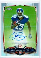 ODELL BECKHAM 2014 Topps Chrome REFRACTOR Rookie Card RC Auto Autograph 048/150