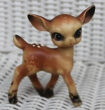 "3.5"" Vintage Bambi Christmas Plastic Baby Reindeer Fawn Figure, Holiday Decor"