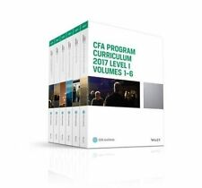 Cfa Program Curriculum 2017 Level I, Volumes 1 - 6 by Cfa Institute (Paperback / softback, 2016)