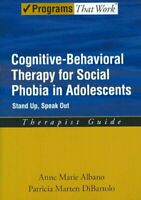Cognitive Behavorial Therapy for Social Phobia in Adolescents : Stand Up, Spe...