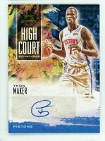 2019-20 Thon Maker 93/179 Auto Panini Court Kings Autographs