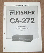 FISHER CA-272 Service Manual Schaltplan Reparaturanleitung  Anleitung
