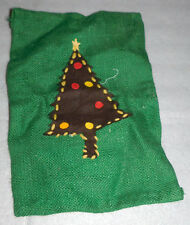 Christmas Felt Tree Hanging Decoration Stitched Ornaments Star Handmade Burlap