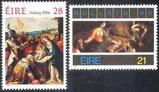 Ireland 1986 Christmas/Greetings/Nativity/Art/Paintings/Artists 2v set (n14022)