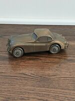 1955 Jaguar Banthrico Metal Piggy Bank Chicago Vintage 1974 Collectable Car E6