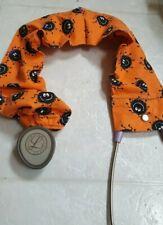 Handmade Halloween Happy Spiders Medical Stethoscope Cover Uniform Accessory