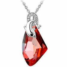 GirlZ! Swarovski  Like Red Pendant Necklace with Chain
