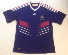 FRANCE football Shirt Jersey Adidas 2009 2010 XL 'ANELKA HENRY ZIDANE FRENCH'