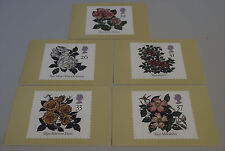 1991 World Congress of Roses Belfast Set of 5 PHQ 136 cards with Stamps FDI/SHS