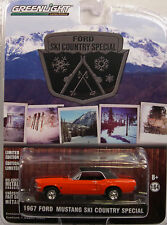 RED 1967 MUSTANG COUPE SKI COUNTRY SPECIAL GREENLIGHT 1:64 SCALE DIECAST MODEL
