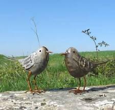 couple d oiseau oiseaux statue decoration animaux coq  canard de jardin en fer