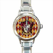 NEW*HOT HARRY POTTER GRYFFINDOR HOGWARTS SCHOOL Round Italian Charm Watch Gift