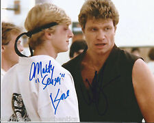 MARTIN KOVE WILLIAM ZABKA DUAL SIGNED 'THE KARATE KID' 8X10 PHOTO w/COA BILLY