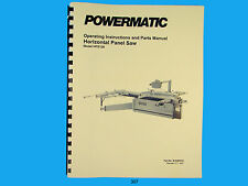 Powermatic Model HPS126 Horizontal Panel  Saw Instruction & Parts Manual *307