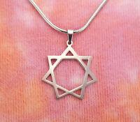 Heptagram Necklace, 7 Seven Pointed Septegram Elven Fairy Star Pendant Charm