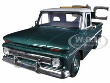 1966 CHEVROLET C-10 FLEETSIDE TOW TRUCK GREEN 1/24 MODEL CAR BY MOTORMAX 75344