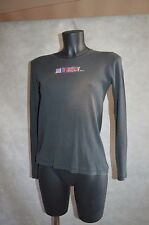 TOP TEE SHIRT SONIA RYKIEL HAUT/MAGLIA COTON STRASS TAILLE M/38 BE