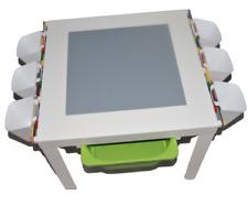 Lego Spieltisch,Lego Platte,  Aufbewahrung Box Weiß,Gelb oder grün NEU