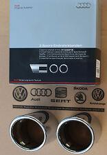 Audi A4 B8 original Auspuff Blenden Endrohre Chrom Sportauspuff Endrohrblenden