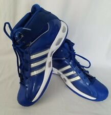 ce9a855ae Adidas Pro Model Blue White High Top Shoes Sneakers Basketball Mens Size 18