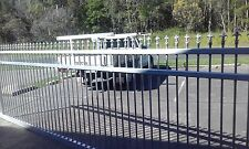 4M x 1.6M High ALUMINIUM DRIVEWAY GATE SLIDING  WITH SPEARS or CIRCLE TOP
