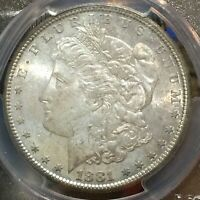 1881 S PCGS MS64 Morgan Silver Dollar MONSTER TONING PROOF LIKE QUALITIES