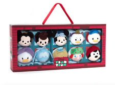NEW Disney Mickey Mouse A Christmas Carol Mini Tsum Tsum Box 10pc Plush Set 3.5""