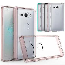 Para Sony Xperia XZ2 Compacto Parachoques hubrid Slim a prueba de impactos Estuche con Cubierta de teléfono claro