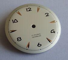 Watchmaker Dial Watch Curved Grey Golden Compatible Jej 23D Diameter 1 3/16in