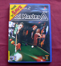 POOL MASTER PlayStation 2 Game with Manual PS2 PS billiards nine ball eight fun