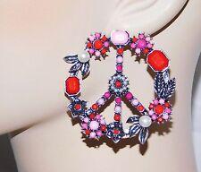On Earth Design Pretty Drop Earrings Peace