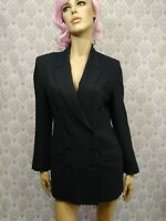 Vtg 80s Womens Double Breasted Navy Wool Blazer Size 38 US M Takara Canada
