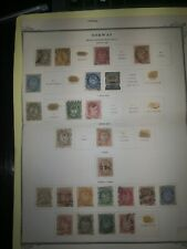 STAMPS Norway.1872-1928 A selection of mostly used early stamps.