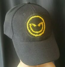 Disturbed Smiley Baseball Cap/Hat Structured Black Adjustable and issues