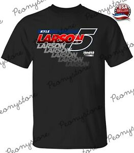 Men's Nascar Kyle Larson1 Team Collection Black Car 2 Black T-Shirt S-4XL