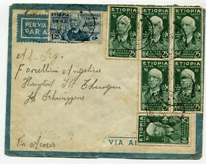 Etiopia Italian Colony airmail cover to Switzerland
