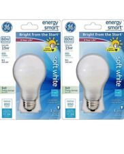 PACK OF 2 GE Lighting Energy Smart 15w Bulb, replaces 60w and lasts 9 years