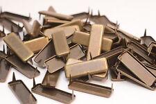 25x Ziernieten / Krallennieten, B10 x L30 mm, Colonial Gold, Rechteckig, USA