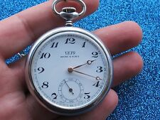 Made Stainless Steel 50.7mm Swiss Made Veto Pocket Watch Manual Cal.L2124 Swiss