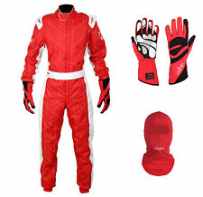 LRP Adult Kart Racing Suit- Speed Suit Package Deal 1 Red/White