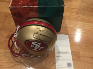JERRY RICE Autographed Signed Authentic San Francisco 49ers Helmet LE 1/49 UDA