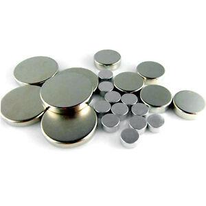 LOT NEODYMIUM DISC BLOCK MAGNETS D2,3,4,5,6,7,8,10,12,15,18,20,45,50,55,60,70mm