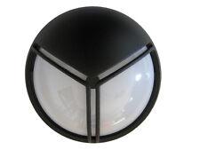Plafón exterior aluminio negro
