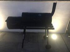 Affumicatore Barile Carbone Barbecue Grill con Ruote-Nero